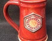 Star Wars: The Force Awakens mug, New Order symbol, 16 ounces, red glaze