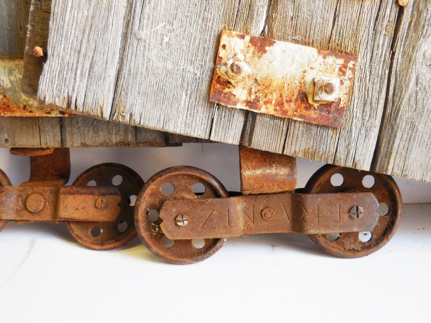 two antique barn door rollers frantz wheels w barn wood