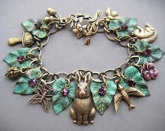 Rabbit Charm Bracelet - Rabbit Bracelet - Rabbit Jewelry - Bunny Bracelet - Fall Jewelry - Bunny Jewelry - Animal Jewelry - Bunnies