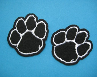 2 pcs Iron-on Embroidered Patch cute Footprint 2.25  inch