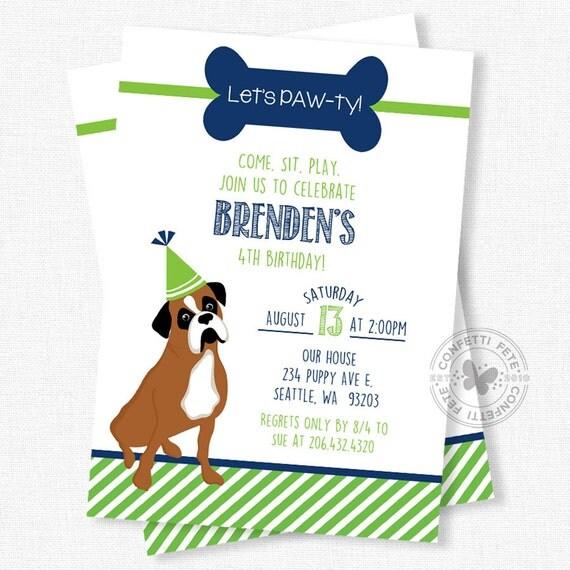 il_570xn - Dog Birthday Party Invitations