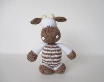 Milkshake the Cow toy knitting pattern