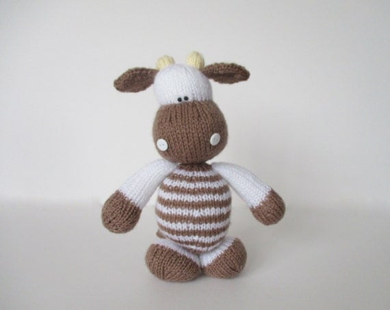 Milkshake the Cow toy knitting pattern