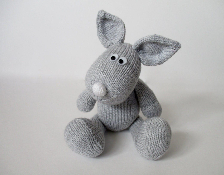 Rabbit Knitting Pattern Toy : Henry rabbit toy knitting patterns