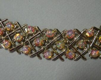 Vintage Opal Glass Bracelet