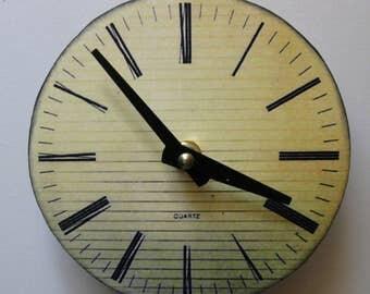 Small wall clock. Vintage clock with roman numerals.  Replica clock. Antique clock.