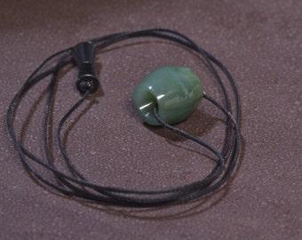 Big Sur Jade Bead Pendant w/adjustable cord