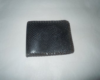 Vintage mens Leather faux snakeskin wallet