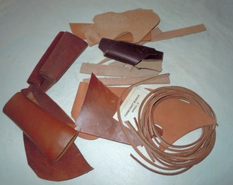 Vintage pieces of Scrap Leather for Leather crafts