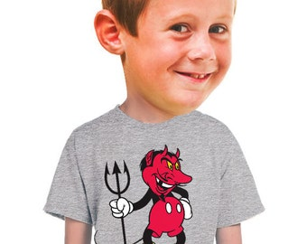 devil t-shirt edgy mickey mouse parody tee shirts for boys geek nerds devil micky mouse cartoon fans tshirt collectors animation disney land