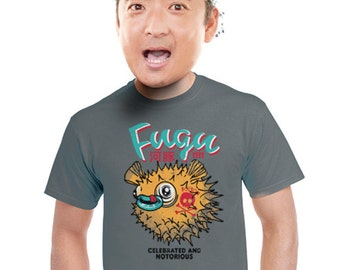 japanese shirt pufferfish mens t-shirt japan vintage look tshirt asian gifts for men guys students fish fans of puffer fish blow fish s-2xl