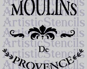 STENCIL Moulins de Provence No 2 10x9
