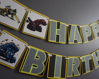 Dinotrux Birthday Banner - MADE TO ORDER