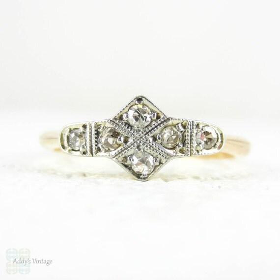 Bague diamant art d co douce de forme g om trique de pav de for Deco forme geometrique
