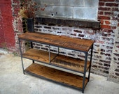 Iron and Oak Console -- HOLD FOR Erica