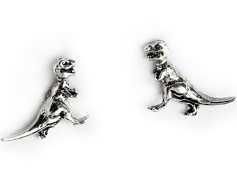 T-Rex Sterling Silver Post Earrings