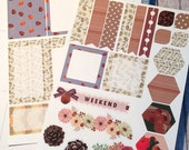 Fall/Autumn Planner Stickers - 2 sheets