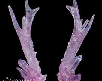 Fairy Quartz Crystal Antlers
