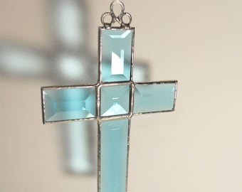 Teal Bevel Cross