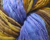 Art Yarn. Handspun Yarn. wool yarn, Thick and thin. Merino Yarn, - Stripes!