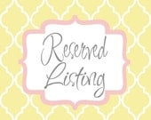 Reserved Listing for AmazonKira