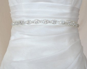 Elegant Eyes Rhinestone Beaded Wedding Dress Sash Belt/ Jewerly sash belt