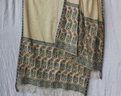 Reserved.        -------Antique Persian Woven Silk Shawl with Paisleys