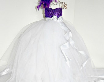 Bridal gown  Wedding doll dress  reception and Bridal  shower centerpiece decoration  Bridal gown,centerpiece  bridal bouquetsl, rhinestones