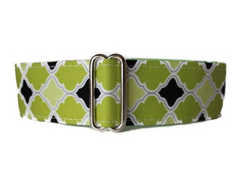 Wide Dog Collar, 1.5 Inch Martingale Collar Greyhound Martingale Collar, Lime Dog Collar, Dog Collars Canada, Side Release Dog Collar