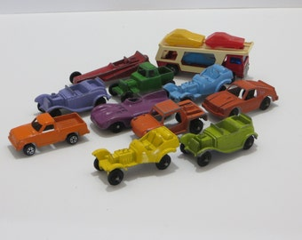 Vintage Tootsie Toy Cars and Trucks-Old School-Metal-Lot of 11-Near Mint