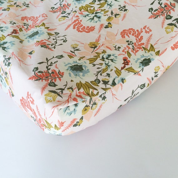 Pink Floral Baby Bedding Fitted Crib Sheets Floral By