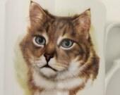 Vintage Cat Mug - Bavarian China signed Schumann Arzberg from Germany