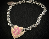 Custom Heavy Sterling and Enamel Medical Bracelet