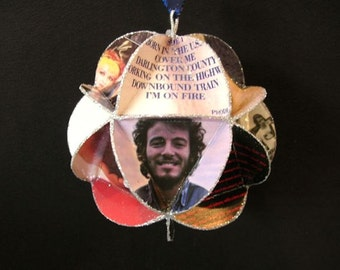 Bruce Springsteen Album Cover Ornament Made From Record Jackets