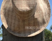Fall Hat Winter Sun Hat Natural Hat Hiking Boating  Freckles California