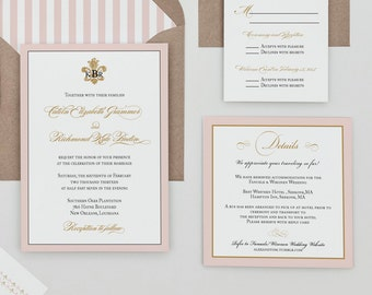 Monogram Fleur de lis Wedding Invitation Digital Download,French Monogram Wedding Printable Invitation,French Baroque Invite Download