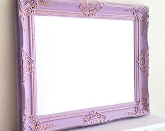 Bulletin Board Girls Room MAGNETIC WHITEBOARD Framed Dry Erase Board Purple  Decor Lilac Lavender Decorative Memo Board Gold Desk
