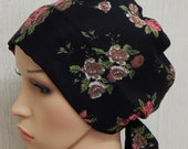 Chemotherapy bonnet, womens cancer head scarf, floral chemo cap, hair loss head wear, lightweight cancer head covering, chemo head wraps
