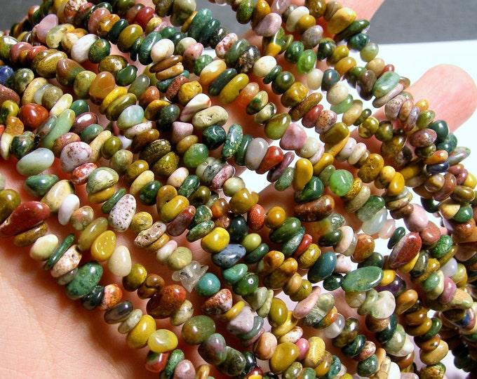 Ocean Jasper Gemstone - chip stone beads - pebble -  full strand - 36 inch - PSC263