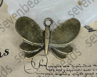 16 pcs butterfly Charms Antique bronze Tone ,Rabbit pendant metal finding ,pendant charm
