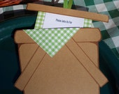 Picnic Invitations -Green Gingham  (8 Pack)- Customized