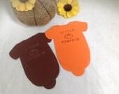 Little pumpkin Baby Shower  Napkins, Set of 20 Hand stamped napkins