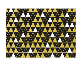 Triangles Pattern - set of 8 boxed notecards