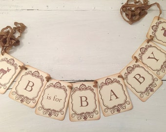 Deer Baby Baby Shower Boy or Girl Neutral Decoration Photo Prop