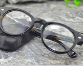 handmade prescription sunglasses lenses brown Leopard wood grain acetate glasses