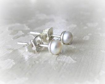Sale Post Earrings, Pearl Stud Earrings, White Pearl Studs, Pearl Post Earrings, Tiny Pearl Studs, Real Pearl Posts, Ivory Pearl Studs