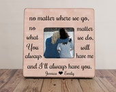 No Matter Where We Go Best Friend Picture Frame, Best Friends Picture Frame, Best Friend Gift, Distance Best Friends
