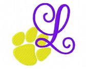 Paw Print // Tiger // Monogram Embroidery Font Design Set // Joyful Stitches