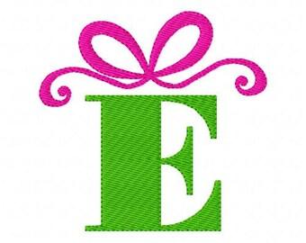 Bow Christmas Birthday Gift Machine Embroidery Monogram Font Design Set  Joyful Stitches // Joyful Stitches