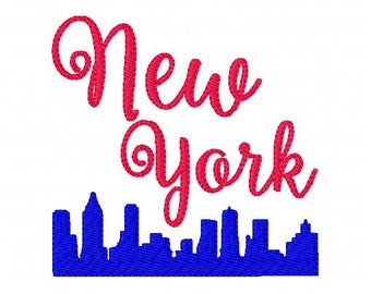 New York // Machine Embroidery Design // Joyful Stitches